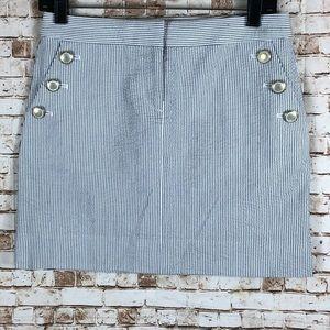 J.Crew Factory striped seersucker mini skirt
